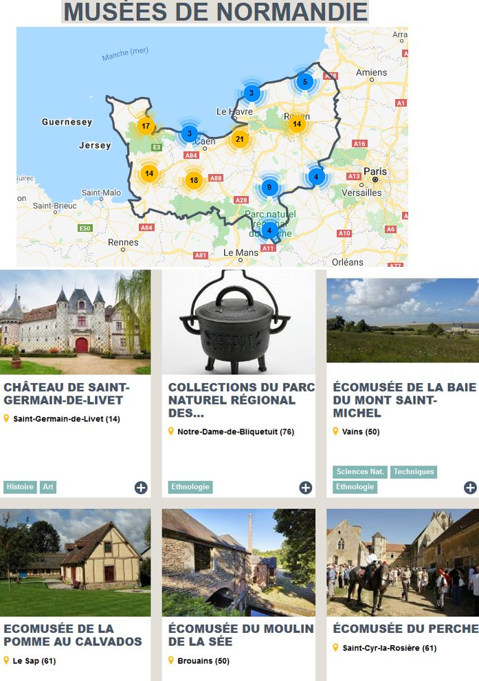 20 Musees et Ecomusees Normandie
