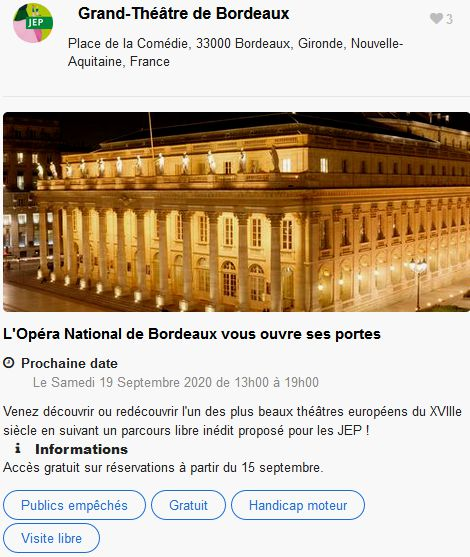 20 Journees Europeennes Patrimoine Site Bordeaux Grand Theatre