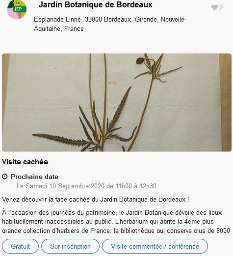 20 Journees Europeennes Patrimoine Site Bordeaux Jardin Botanique