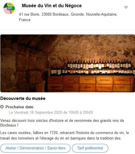 20 Journees Europeennes Patrimoine Site Bordeaux Musee Vin Negoce
