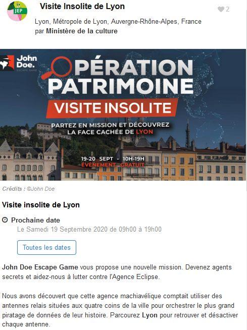 20 Journees Europeennes Patrimoine Site Lyon John Doe