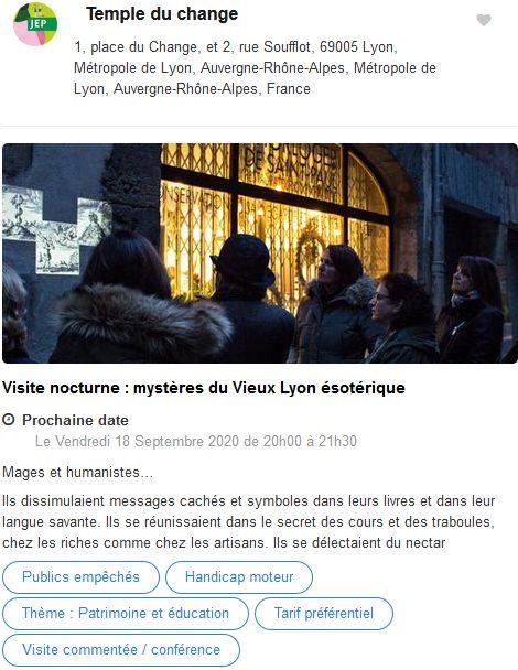 20 Journees Europeennes Patrimoine Site Lyon Temple du Change