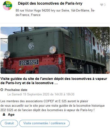20 Journees Europeennes Patrimoine Site Paris Depot Loco