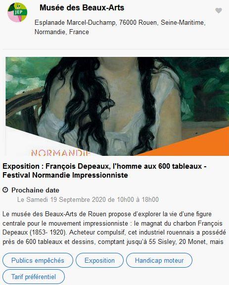 20 Journees Europeennes Patrimoine Site Rouen Musee Beaux Arts