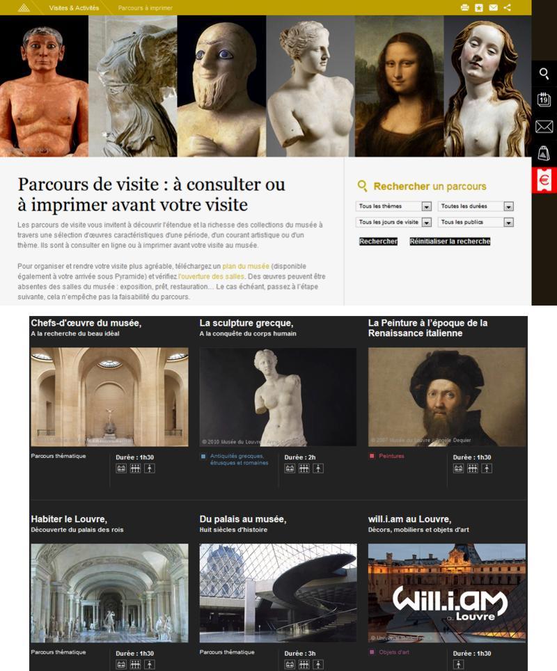 19 Parcours de visite Louvre Paris