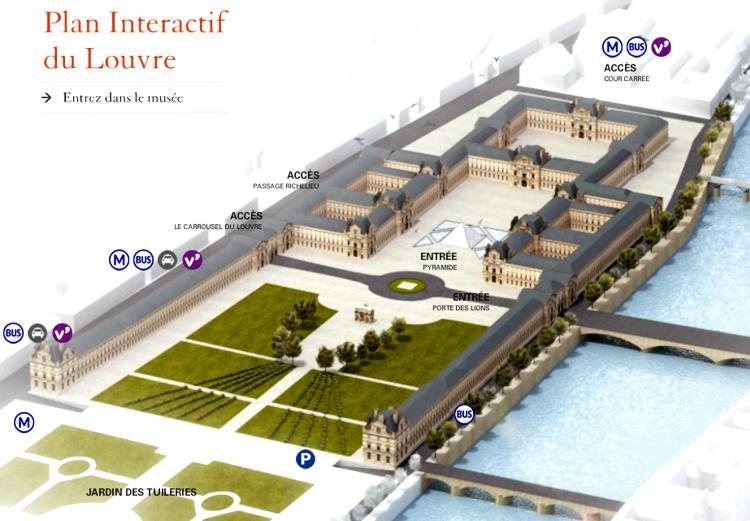 19 Plan Interactif Louvre Paris