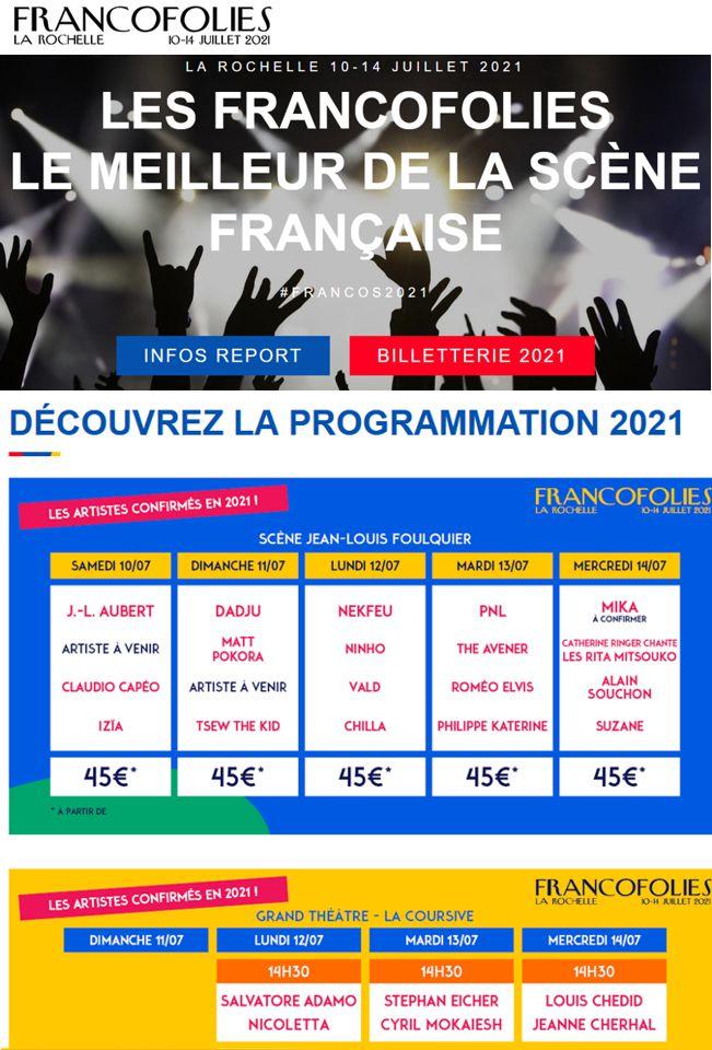 20 Francofolies 2020 2021