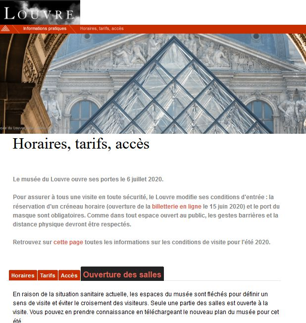 20 Musee Louvre Paris 6 juillet 2020