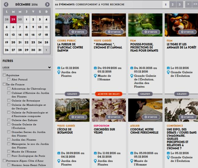 16 Museum National Histoire Naturelle Calendrier